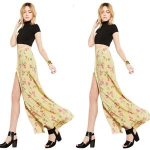 Reformation | Aura Maxi Skirt in Yellow Floral XS